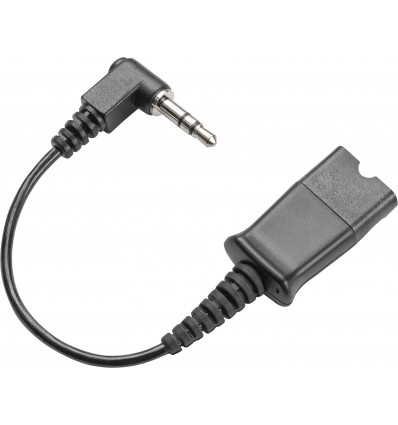 Plantronics Quick Disconnect cable to 3.5mm Musta