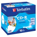Verbatim CD-R AZO Wide Inkjet Printable 700 MB 10 kpl