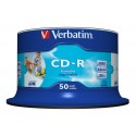 Verbatim CD-R AZO Wide Inkjet Printable no ID 700 MB 50 kpl
