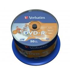 Verbatim DVD-R Wide Inkjet Printable No ID Brand 4.7GB 50kpl